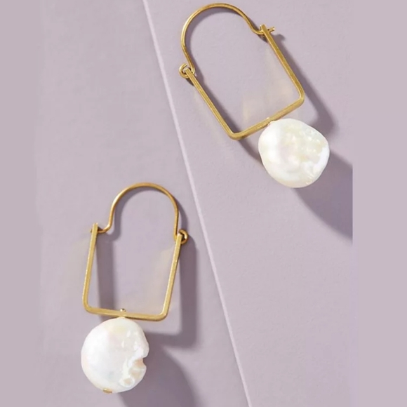 Anthro Fresh Water Pearl Earrings